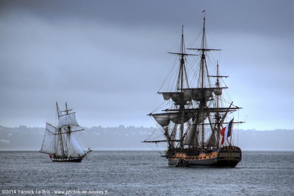 La Recouvrance et L'Hermione 2014-10-19 Brest YLB 1500 px cop